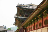 Korean old buildings from outside and inside. — Stock Photo