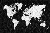 世界地図と関連するすべてのもの — ストック写真