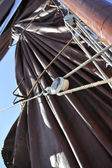 Sail and rigging — Stock Photo