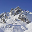 French alpine peak — Stock Photo