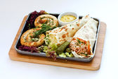 Salsichas a grelha — Fotografia Stock