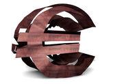 Symbole de l'euro rouillé — Photo