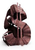 Rusty dollar sign — Zdjęcie stockowe