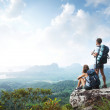 Hikers with backpacks — Stock Photo #16260457