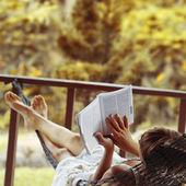 чтение — Стоковое фото