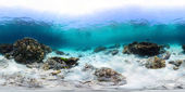 Panorama of tropical reef with a rocks — Stock Photo