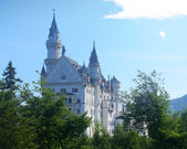 Neuschwanstein castle at sunny day. — Stock Photo