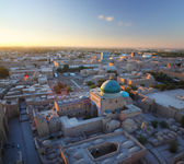 Top view of the city of Khiva at sunset. — Stock Photo
