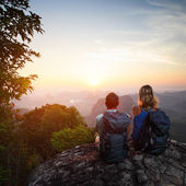 Hikers — Stock Photo