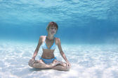 Yoga underwater — Stock Photo