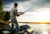рыбак — Стоковое фото