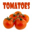 Close-up photo of tomatoes — Foto de stock #35807685