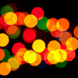 Coloured specks of light — Stock Photo