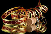 Ribbon and cork — Stock Photo