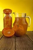 Oranges and juice — Stock Photo