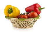 Papriky a rajčata — Stock fotografie