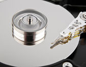Hard disk drive inside — Stock Photo