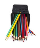 Pencils in a basket — Stock Photo