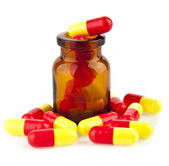 Pills in a jar — Stock Photo
