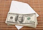 Dollars in an envelope — Стоковое фото