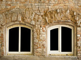 Old wall with windows — Stock Photo