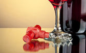 Bottle and a glass of wine — Stock Photo