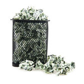 Basket with a paper — Stock Photo