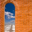 Arch in a wall — Stock Photo