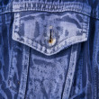 Pocket dark blue denim jacket — Stock Photo