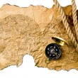 Compass and old map — Stock Photo #35914627