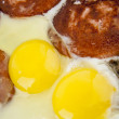 Scrambled eggs with sausage — Stock Photo #35915403