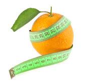 Orange and meter — Stock Photo
