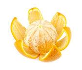 Orange with crust — Stock Photo