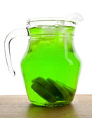 Jug with a drink — Stock Photo