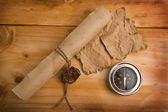 Old paper and compass — Stock Photo