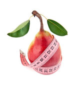 Meter and pear — Stockfoto