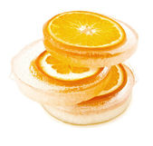 Oranges in the ice — Stock Photo