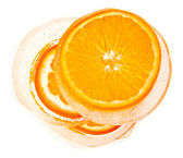 Orange in ice — Stock Photo