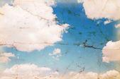Gammal bild på blå himmel — Stockfoto