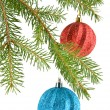Fir-tree and balls — Stock Photo #35921311