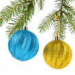 Fir-tree and balls — Stock Photo #35921313