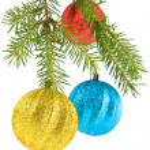 Fir-tree and balls — Stock Photo