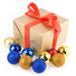 Stock Photo: Gifts and christmas decorations