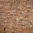 Wall from the old red brick — Stock Photo