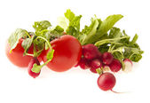 Radish and tomatoes — Stock Photo