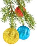 Fir-tree and balls — 图库照片