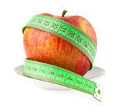 Apple e medidor — Foto Stock