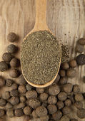 Pepper in spoon — Stock Photo