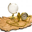Old paper globe and clock — Stock Photo #40671799