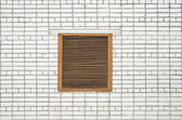 Grate in a window — Stock Photo